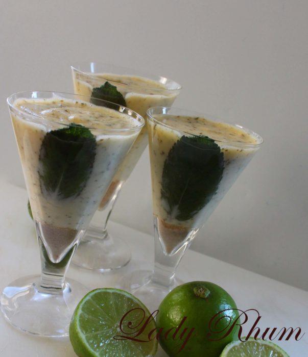 Mousse au citron parfum mojito - Recette par Lady Rhum