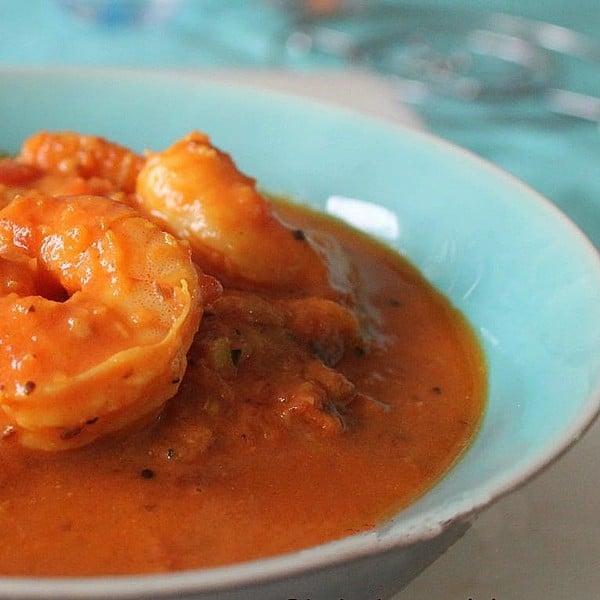 Curry de crevettes au lait de coco